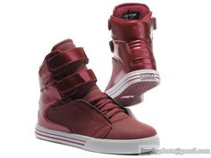 Women's Supra TK Society Footwear High Tops Red Wine Shoes