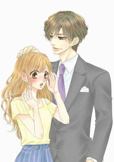 Coffee & Vanilla // Fukami and Risa Manga Couple, Couple Cartoon, Anime Couples Manga, Anime Guys, Manga Anime, Coffee And Vanilla Manga, Coffee And Books, Manga Covers, Manhwa Manga