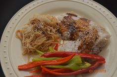 Asian Steamed Cod w/ Ginger-Soy Soba Noodles