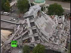 Dramatic aerial video: Strong earthquake hits Christchurch, New Zealand