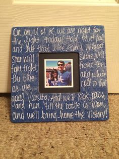 UK fight song picture frame.
