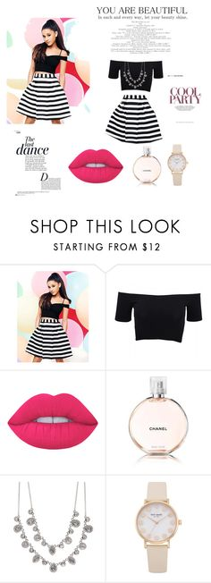 """Grande"" by manarn5 on Polyvore featuring Lipsy, American Apparel, Anja, Lime Crime, Chanel and Givenchy"