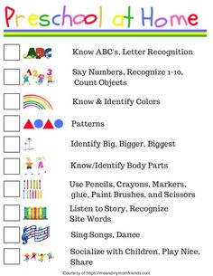 Preschool at Home - Free Printable! Ideas where to start teaching your child preschool at home, or helping reinforce what they are learning at school! preschool Preschool at Home - Free Printable Checklist Preschool Prep, Preschool At Home, Preschool Classroom, Preschool Checklist, Preschool Ideas, Preschool Routine, Free Preschool, Home Preschool Schedule, Preschool Printables