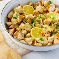 This is a keeper- although per hubby's request we used sesame seeds instead of poppy seeds. Skinny-Lemon-Chicken-Skillet