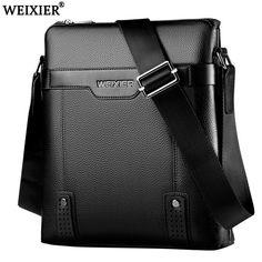 f1508ed05bda Extra Off Coupon So Cheap Men Leather Shoulder Bag Elegant Messenger Bag  Weekend Vacation Travel Work Bag