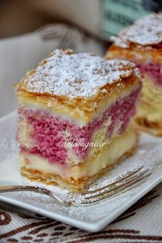 Puff Pastry with a Cake Middle, you can use jam instead of Custard, I don't like Custard!