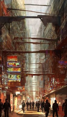 "Ghost who walks inside fragments-of-a-hologram-dystopia: ""(source) ""<br> Cyberpunk City, Cyberpunk Movies, Cyberpunk Kunst, Cyberpunk Aesthetic, Futuristic City, Futuristic Architecture, Architecture Art, Amazing Architecture, Fantasy City"