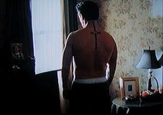 Sean Penn  - Mystic River. this is the HOTTEST part  of the movie he is friggen JACKED