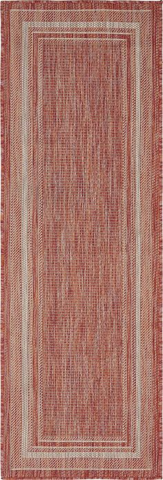Rust Red 60cm x 183cm Outdoor Runner Rug | Area Rugs | iRugs UK GREAT FOR AUTUMN & WINTER IN THE HALL £39.00
