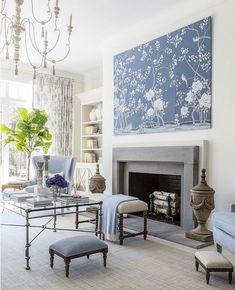 608 Best Blue And White Interiors Images In 2019