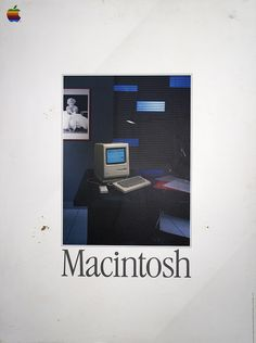 Macintosh - Vintage Apple Computer Poster