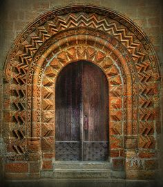 Collegiate Church of Saint Evroult - Mortain, Normandy, France triple portal