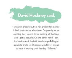 Quote - David Hockney