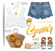 """""""SUMMER VIBES"""" by elizabethhorrell ❤ liked on Polyvore featuring Alex Monroe, STELLA McCARTNEY, Mercedes Salazar and Baccarat"""