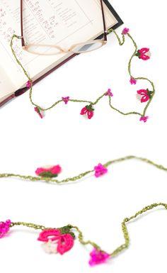 Crochet Eyeglasses Cord,Tulip &Berries Crochet Glasses Chains