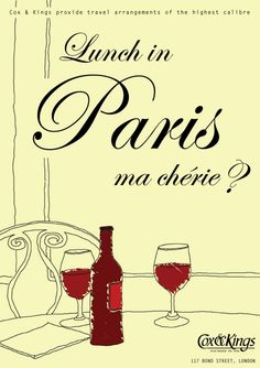 1950s Travel Poster Paris