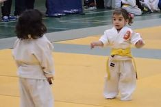 These Little Girls' First Judo Fight Ends Adorably --- OMG STAHPPPP. So cutr