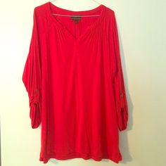 Fenn Wright Manson tunic!  orange/red color worn once size small but fits loosely. pair with leggings and go! casual chic!  fenn wright manson  Tops Tunics