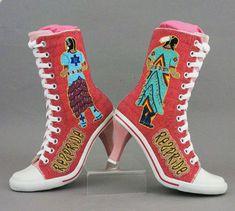 Artist: Teri Greeves, Kiowa RezPride/RezGirls Beaded shoes