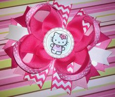 Pink Hello Kitty Boutique Hair Bow