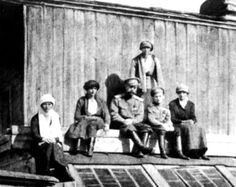 One of the last photographs of the Imperial Romanov Family while in captivity at Ipatiev House, Ekateringberg.