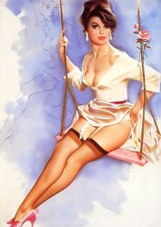 Pin Up Girl Diane Canvas Print 20*30 Inch HUGE !