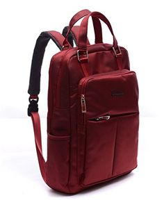 Dubyao Unisex 17-inch Multipurpose Water Resistant Laptop Bag/macbook Air Backpack (Red)