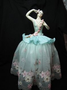 A New Very Large Porcelain Half Doll Pincushion Doll by KaysStudio