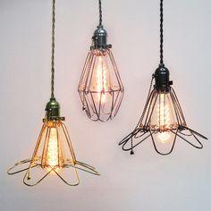 Edison Industrial cage lamp - lamp cage OR full set lamp - DIY lamp - industrial style - vintage style - hanging lamp - Edison bulb lamp