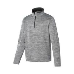 97cc372b924 Men s Terramar Ecolator Fleece 3.0 1 2 Zip Light Grey Heather