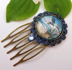 Small hair comb with palms and beach carribbean by Schmucktruhe, €12.50