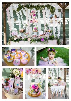 Are you planning a first birthday party for your little princess? Why not a gorgeous garden theme like this one on www.prettymyparty.com.