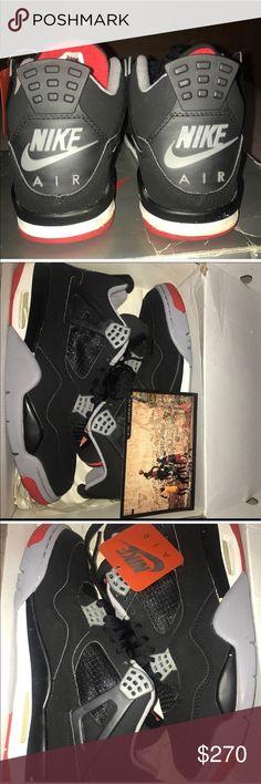 59e2560ca0 Nike Air Jordan Black Cement Bred 4 1999 Original Nike Air Jordan Bred IV  1999 Black