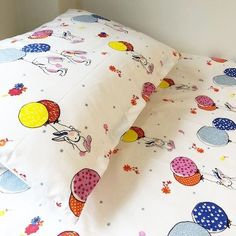 Bunny Cot Bed Duvet Cover Set Cotton - featuring sweet little bunnies playing with balloons.Made from cotton, so perfect as breathable and hypoallergenic Cot Bed Duvet Cover, Duvet Bedding, Duvet Sets, Duvet Cover Sets, Toddler Rooms, Toddler Girls, Bunny Beds, Toys For Girls, Girl Toys
