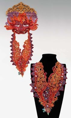 Jewelry Design - Bib-Style Necklace with Swarovski Crystal and Seed Beads - Fire Mountain Gems and Beads