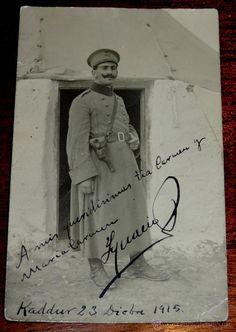 FOTOGRAFIA DE TENIENTE DE INFANTERIA EN CAMPAMENTO DE KADDUR EL 23 DE DIC. DE 1915, GUERRA DEL RIF, - Foto 1