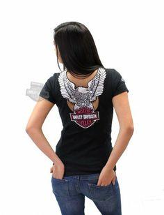 Harley-Davidson Womens Chrome Rider Eagle with B&S Cutout V-Neck Black Short Sleeve T-Shirt - MD Harley-Davidson (Womens),http://www.amazon.com/dp/B00INYUB7W/ref=cm_sw_r_pi_dp_y0ittb0RFSNEVCP7