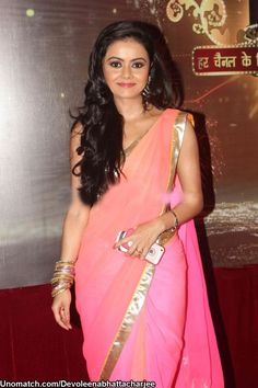 Devoleena Bhattacharjee is an actress on Indian television. She is famous for her role as Gopi bahu from the show Saath Nibhaana Saathiya. like : http://www.Unomatch.com/Devoleenabhattacharjee/