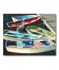 Look what I found on #zulily! Row Boat Canvas Wall Art by COURTSIDE MARKET #zulilyfinds