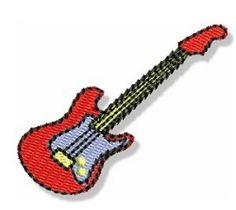 Mini Guitar   Mini Designs   Machine Embroidery Designs   SWAKembroidery.com Bunnycup Embroidery