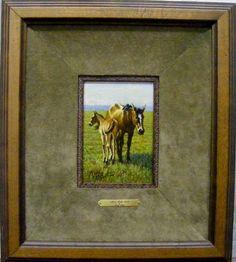 Mare and Colt  By Barry Arthur  Cedar Break Gallery, Abilene TX  www.barryarthur.com  this so pretty!