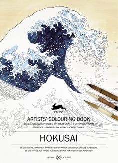 The Pepin Press Hokusai Colouring Book -aikuisten värityskirja