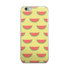 Watermelons on Yellow Pattern iPhone Case