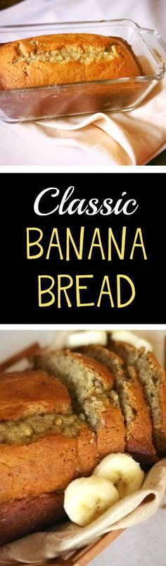 Banana Bread Recipe Best recipe for classic, moist banana bread! Easy quick bread with only a few ingredients. Perfect breakfast or snack. Easy banana recipeMoist Moist describes the presence of moisture. It may also refer to: Music: Other: Quick Banana Bread, Banana Recipes Easy, Quick Bread, Banana Nut, Banana Ideas, Homemade Banana Bread, Dessert Simple, Easy Snacks, Easy Desserts