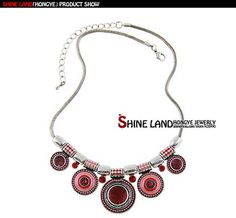Ethnic Collares Vintage Silver Plated Choker Necklace