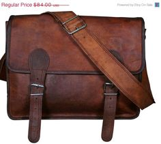 Leather Messenger Bag by royalboutique