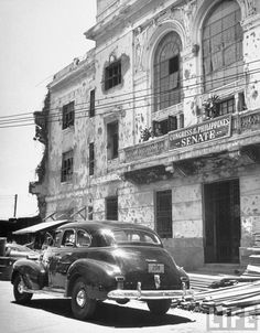Temporary Senate headquarters. Location:Manila, Philippines Date taken:May 1948 Photographer:Jack Birns