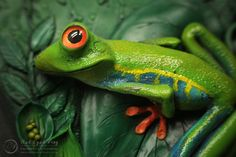 Red Eyed Frog - Journal by Mandarin Duck http://www.mandarin-duck.com/p/blog-page_18.html Polymer Clay