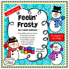 Feelin' Frosty Mix and Match Winter Clip Art Collection $ http://www.teacherspayteachers.com/Product/Feelin-Frosty-Mix-and-Match-Winter-Clip-Art-Collection-1567351