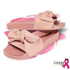 b45c4ce47a Chinelo Slide na onda do Rosa! Sapatos Rosa